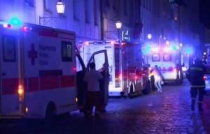 24 lulgio 2016 - Nuova esplosione ad Ansbach, in Germania - Foto via Twitter