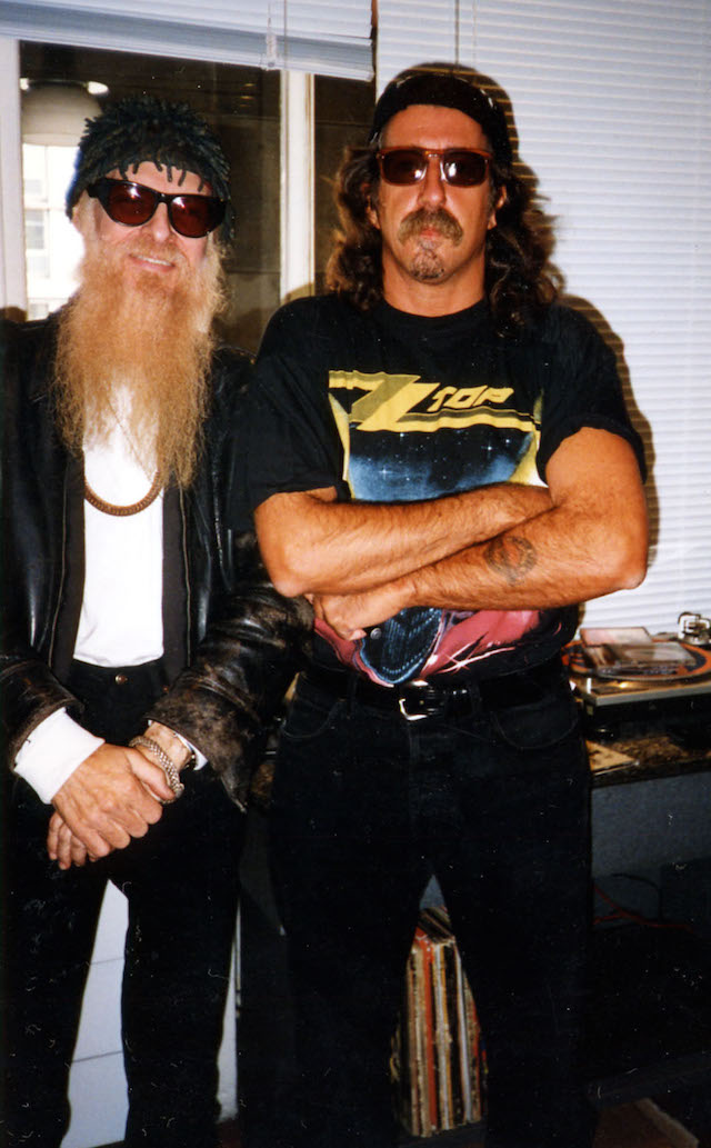 Fabio Treves con Billy Gibbons nel 1997