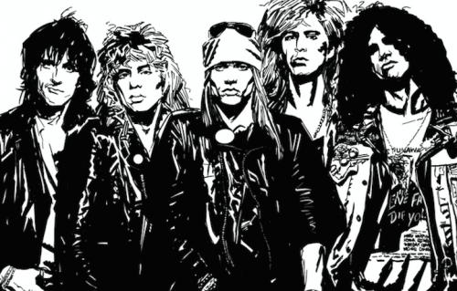 I Guns N' Roses secondo Jim McCarthy e Mark Olivent, pubblicato da Edizioni BD