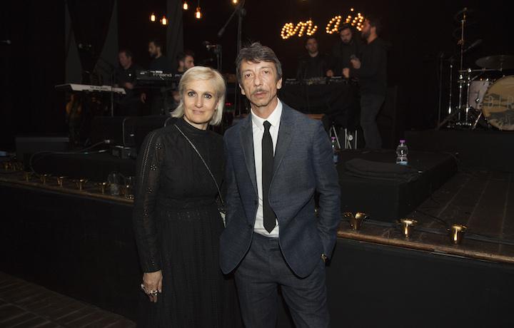 Maria Grazia Chiuri e Pierpaolo Piccioli al Teatro Quirinetta di Roma