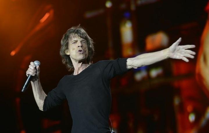 Mick Jagger con i Rolling Stones allo Stadio Santiago Bernabéu di Madrid nel 2014 - Foto via Facebook
