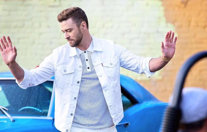 "Justin Timberlake in un frame del suo ultimo video ""Can't Stop the Feeling"""