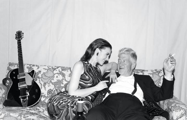 Chrysta Bell e David Lynch. Foto: Facebook