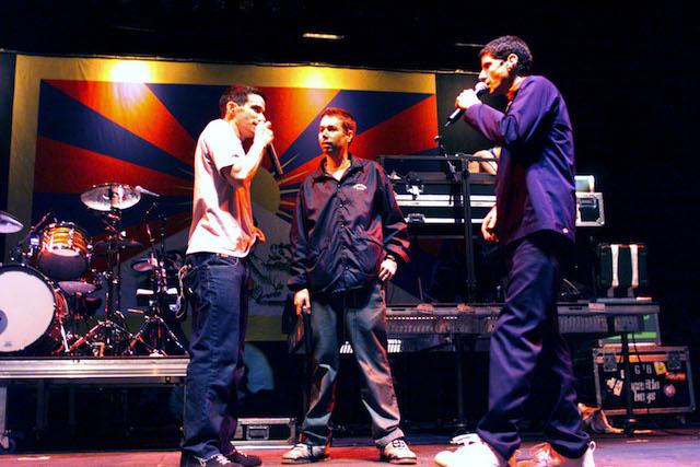 I Beastie Boys al Tibetan Freedom Concert il 13 giugno 1999. Foto Frank Micelotta/Getty Images