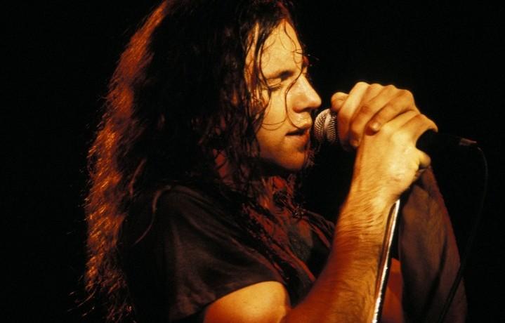 Eddie Vedder dei Pearl Jam, foto di Michel Linssen/Redferns