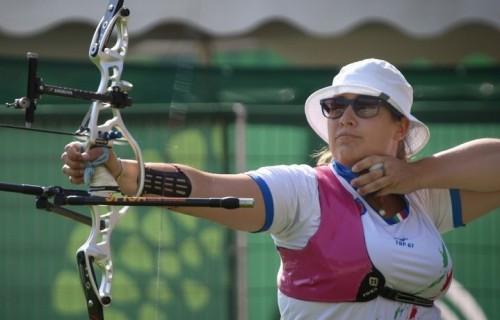 Guendalina Sartori, una delle arciere della squadra italiana alle Olimpiadi di Rio 2016. Foto: Coni