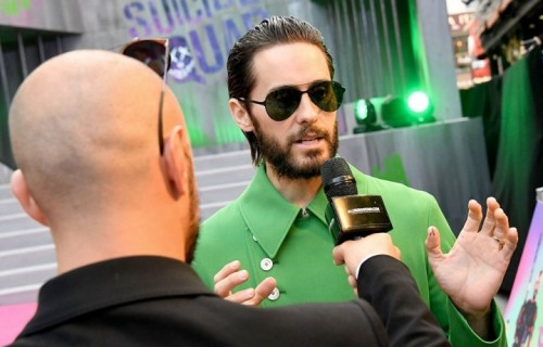 Jared Leto all'anteprima londinese di Suicide Squad. Foto Getty Images