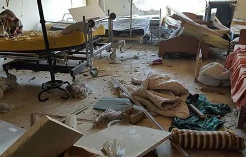 Un ospedale pediatrico di Medici Senza Frontiere, distrutto -Foto di Medici Senza Frontiere
