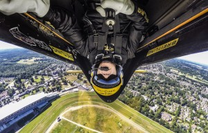 Nigel Lamb of Great Britain performs during a free practice on the fifth stage of the Red Bull Air Race World Championship in Ascot, Great Britain on August 12, 2016.