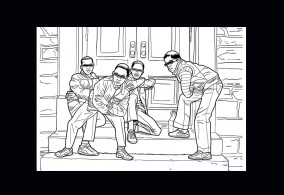 Back in the Days Coloring Book, Jamel Shabazz, powerHouse, book, libro, album da colorare, hip hop, NYC, new york, foto, gallery