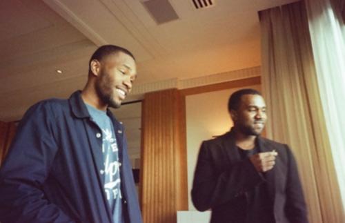 Frank Ocean e Kanye West in studio. Foto: Twitter