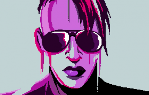 "Marilyn Manson e Shooter Jennings come in un videogame 16-bit nel video di ""Cat People"""