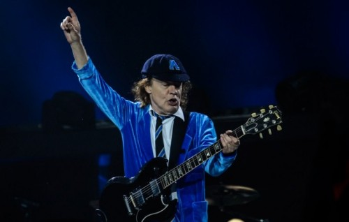 Angus Young durante il Rock or Bust Tour, foto di Michele Aldeghi