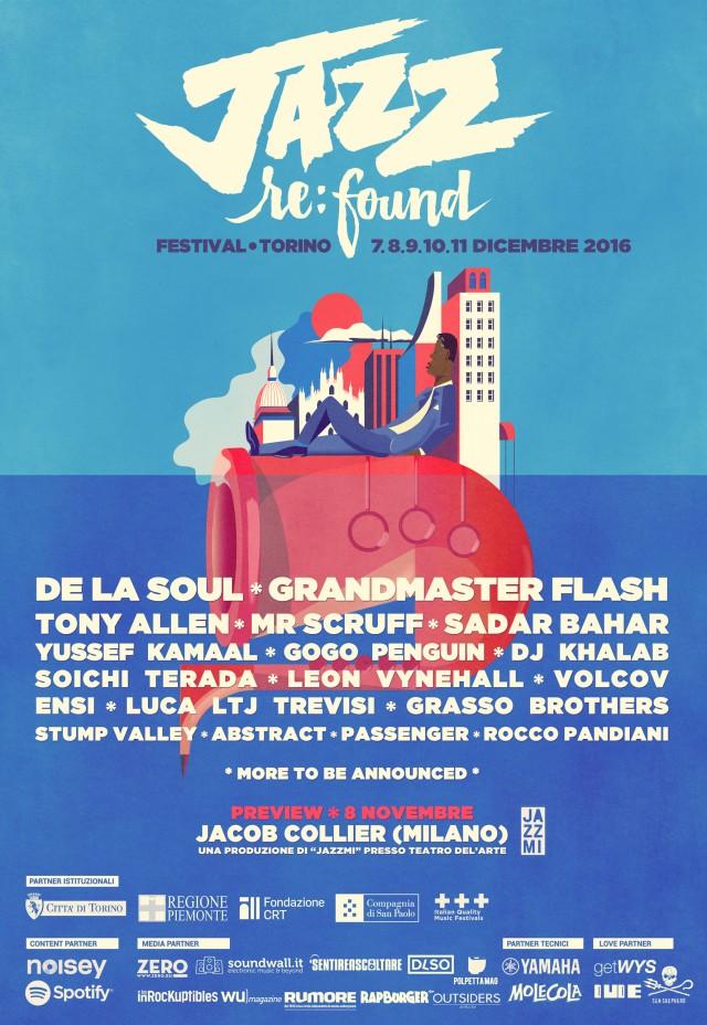 La locandina del Jazz:Re:Found Festival 2016