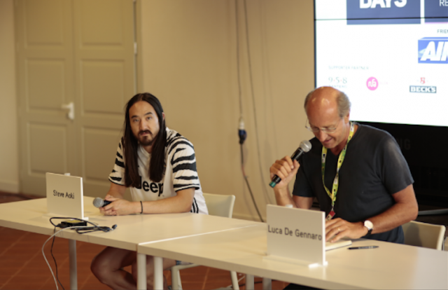 Steve Aoki e Luca De Gennaro, foto via mtv.it