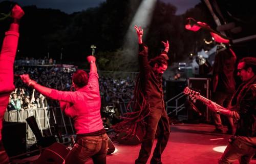 "Damian ""Jr. Gong"" Marley sul palco del Bestival. Foto: Victor Frankowski"