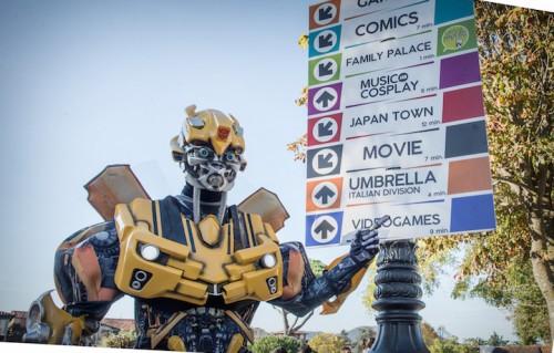 Bumblebee al Lucca Comics & Games in preda alla FOMO, foto di Andrea Antoni