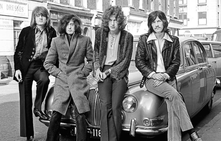 John Paul Jones, Jimmy Page, Robert Plant, John Bonham, ovvero i Led Zeppelin, in una foto del 1968 (Dick Barnatt/Redferns)