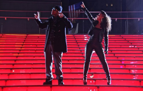 Jay-Z e Alicia Keys nel video di Empire State Of Mind