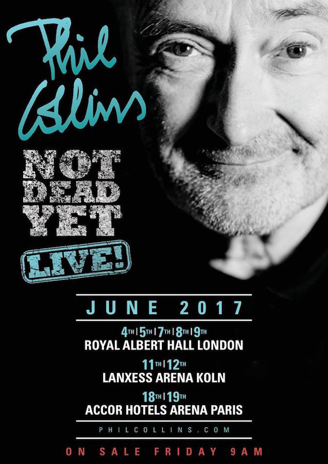 Phil Collins, Not Dead Yet Tour