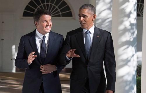 Renzi e Obama alla Casa Bianca, foto via Facebook