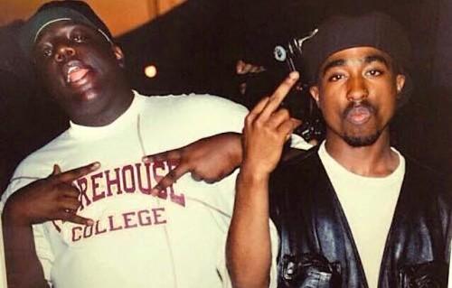 Notorious B.I.G. e Tupac Shakur, foto via Facebook
