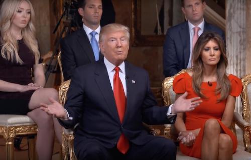 Donald Trump durante l'intervista a 60 minutes, immagine via CBS