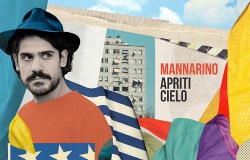 Un dettaglio della copertina di Apriti Cielo, il nuovo album di Mannarino, foto Ilaria Magliocchetti Lombi, artwork di Nazario Graziano