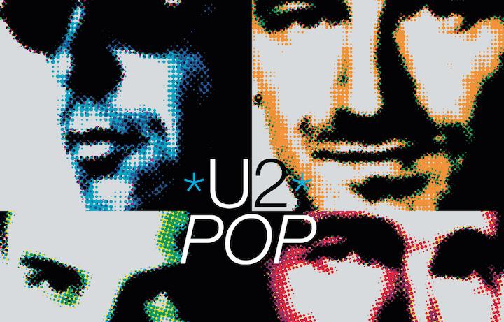 Un dettaglio della copertina di Pop, il nono album degli U2