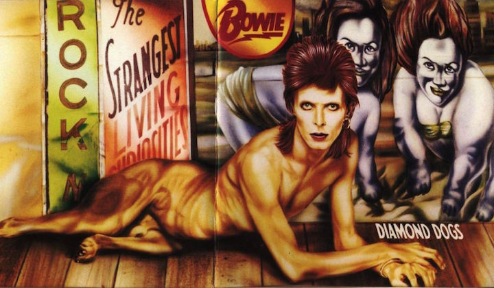David Bowie in versione cane nel disco Diamond Dog