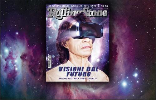 Mick Jagger sulla cover di Rolling Stone di gennaio 2017 - Artwork Studio Cirasa