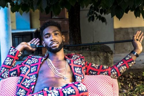 Il rapper e produttore britannico Patrick Chukwuemeka Okogwu, in arte Tinie Tempah. È nato a Londra nel 1988. Nella foto: total look GUCCI - Foto di Daniele Tamagni