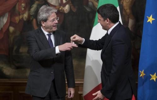 Paolo Gentiloni e Matteo Renzi