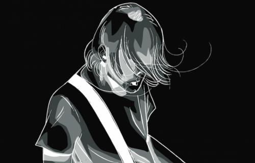 """Un dettaglio della cover francese di """"Kurt Cobain franceseKurt Cobain. Quando ero un alieno"""""""