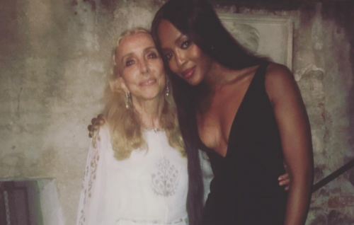 Franca Sozzani con Naomi Campbell - Foto via Instagram