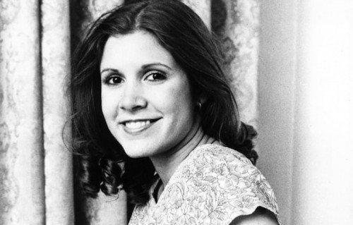 Carrie Fisher nel 1977. REX/Shutterstock