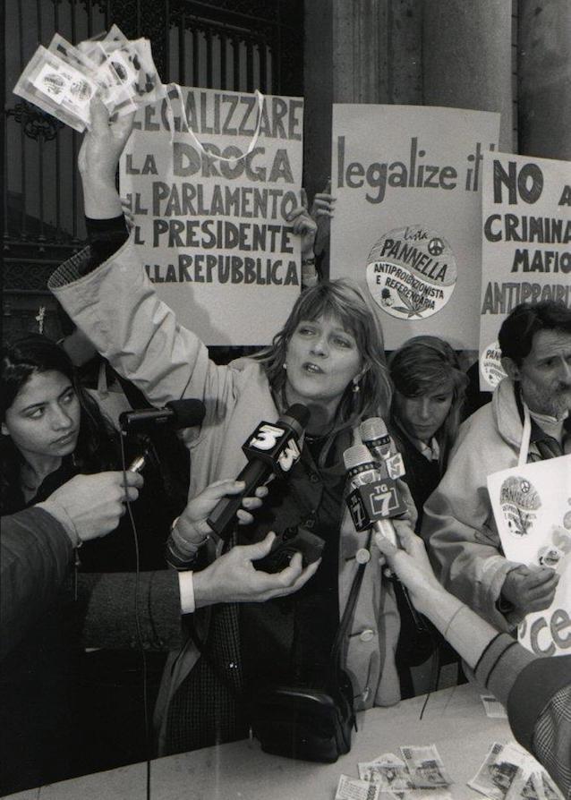 Rita Bernardini a Milano nel 1997