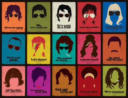Amy Winehouse, Nina Simone, David Bowie, John Lennon, Michael Jackson, poster, grafica, artwork, Bob Marley, Barletta Rafael,