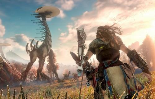 """Un frame di """"Horizon Zero Dawn"""", un'esclusiva di PlayStation"""