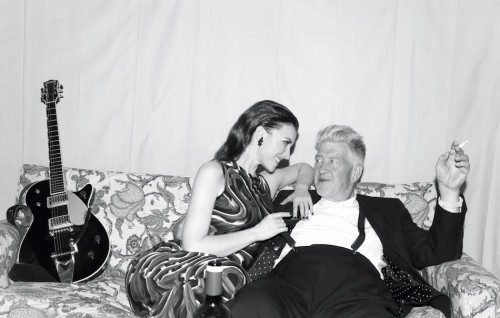 Christa Bell e David Lynch, foto di Elias Tahan