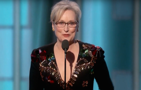 Meryl Streep contro Trump durante i Golden Globes 2017