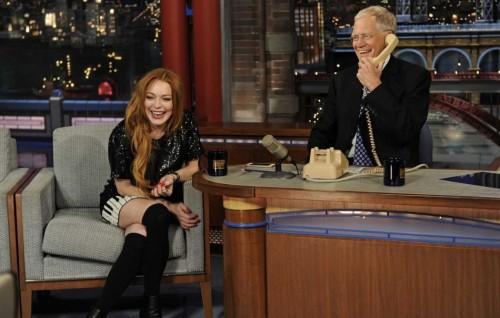 Lindsay Lohan con David Letterman