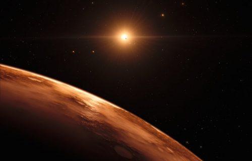 Una riproduzione di quella che potrebbe essere la superficie di uno dei pianeti di Trappist 1, immagine dal database Nasa