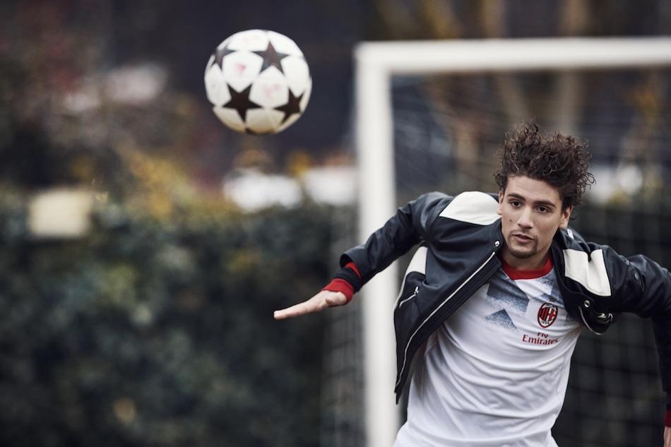 Giacca in pelle: DIESEL; maglia: collezione adidas AC Milan – stagione 2016-2017