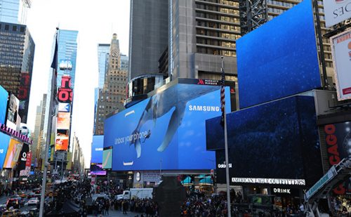 Timesquare Samsung Galaxy Unpacked 2017