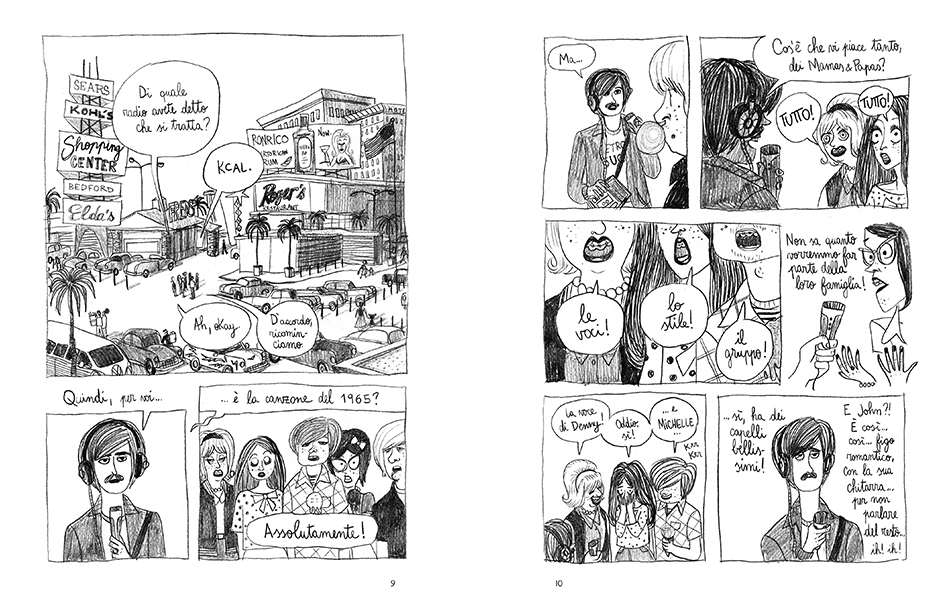 Pénélope Bagieu, graphic novel, fumetto The Mamas & Papas, Cass Eliott, bao publishing,