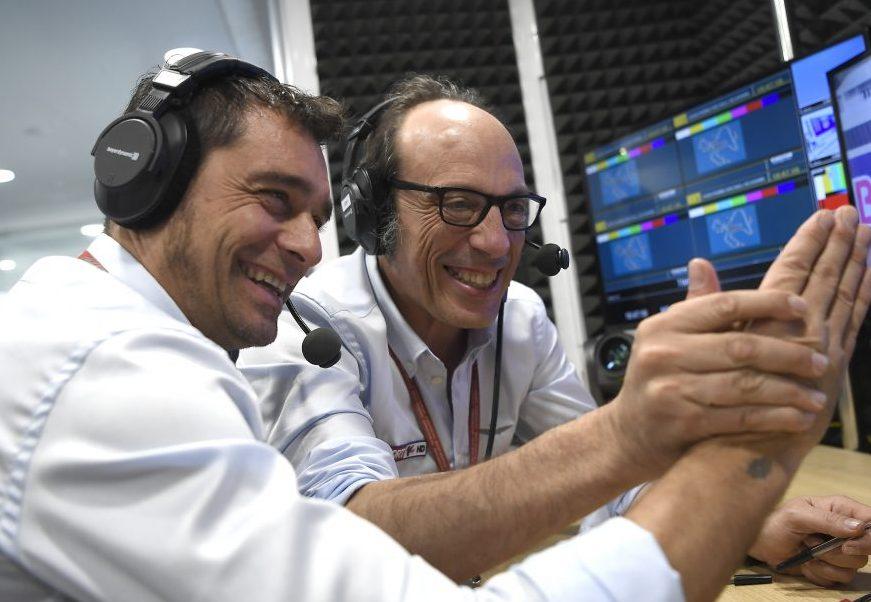 Guido Meda e Mauro Sanchini al lavoro per Sky Sport MotoGP HD (canale 208)