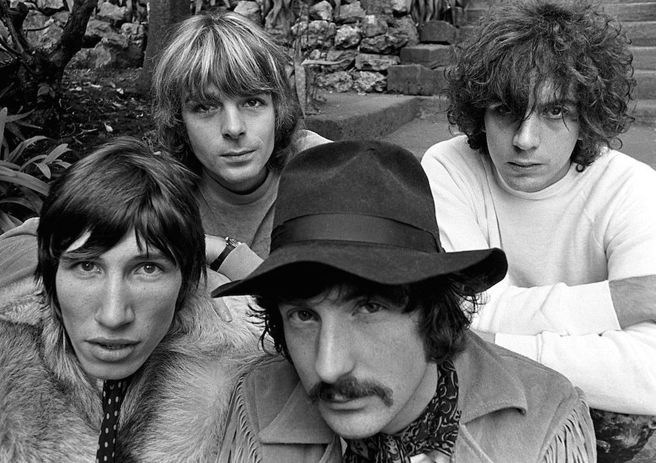 I Pink Floyd nel novembre 1967. Da sinistrat: Roger Waters, Richard Wright, Nick Mason, Syd Barrett. Foto di Baron Wolman/Iconic Images/Getty Images