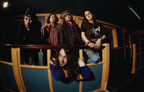 I Pearl Jam nella formazione con Dave Abruzzese, foto di Tony Mottram/Getty Images