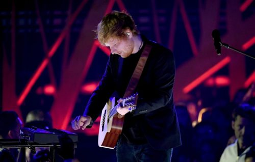 INGLEWOOD, CA - MARCH 05: Musician Ed Sheeran performs onstage at the 2017 iHeartRadio Music Awards which broadcast live on Turner's TBS, TNT, and truTV at The Forum on March 5, 2017 in Inglewood, California. (Photo by Kevin Winter/Getty Images for iHeartMedia)